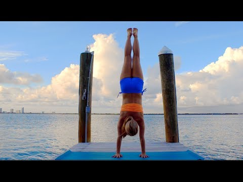 Yoga Handstand Press Demo With Kino Macgregor At The Standard Hotel Miami
