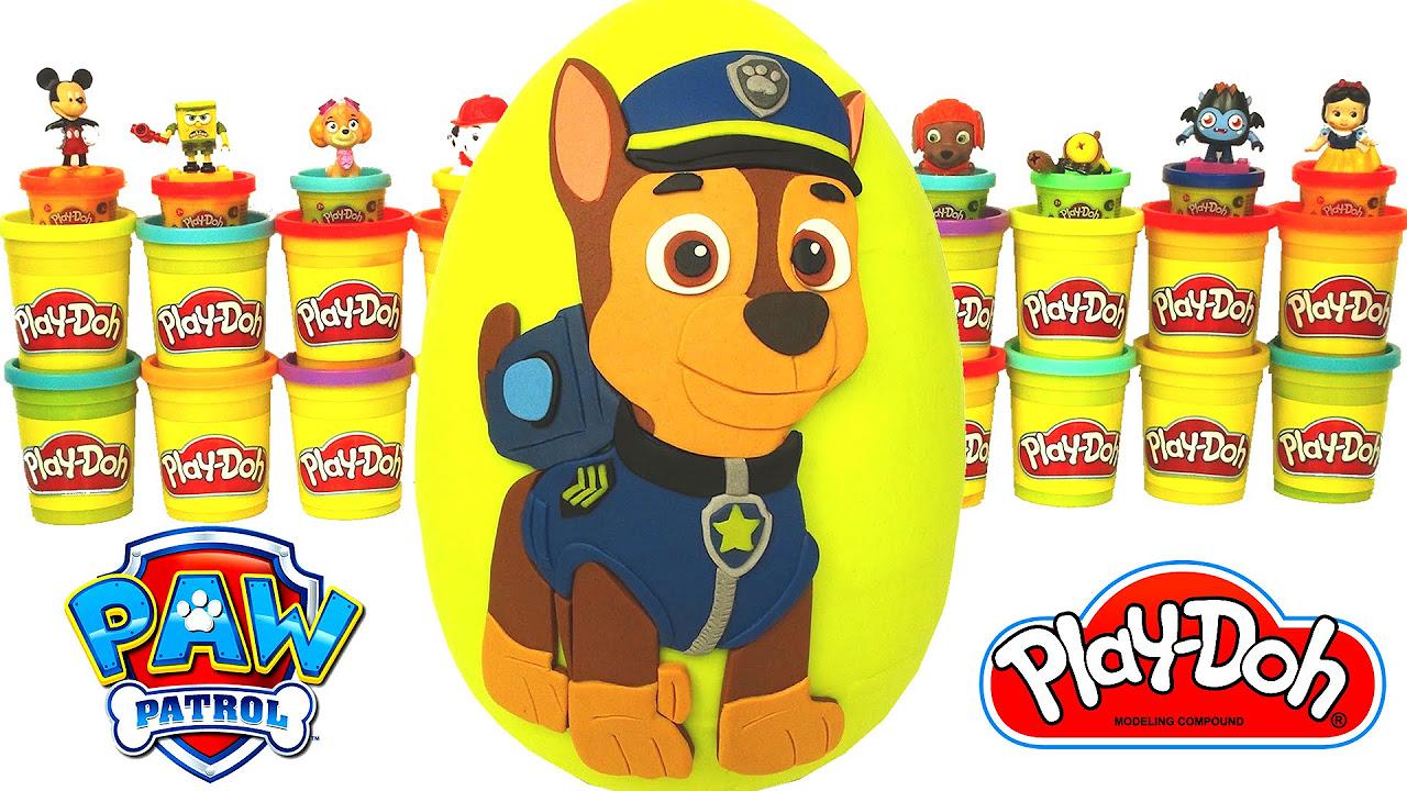 Paw Patrol Chase Sürpriz Yumurta Oyun Hamuru - Paw Patrol Oyuncakları Cicibiciler