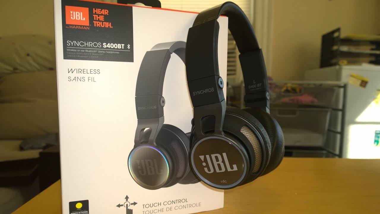 8bd03f3e7fb JBL Synchros SB400BT Bluetooth Headphone Review - YouTube