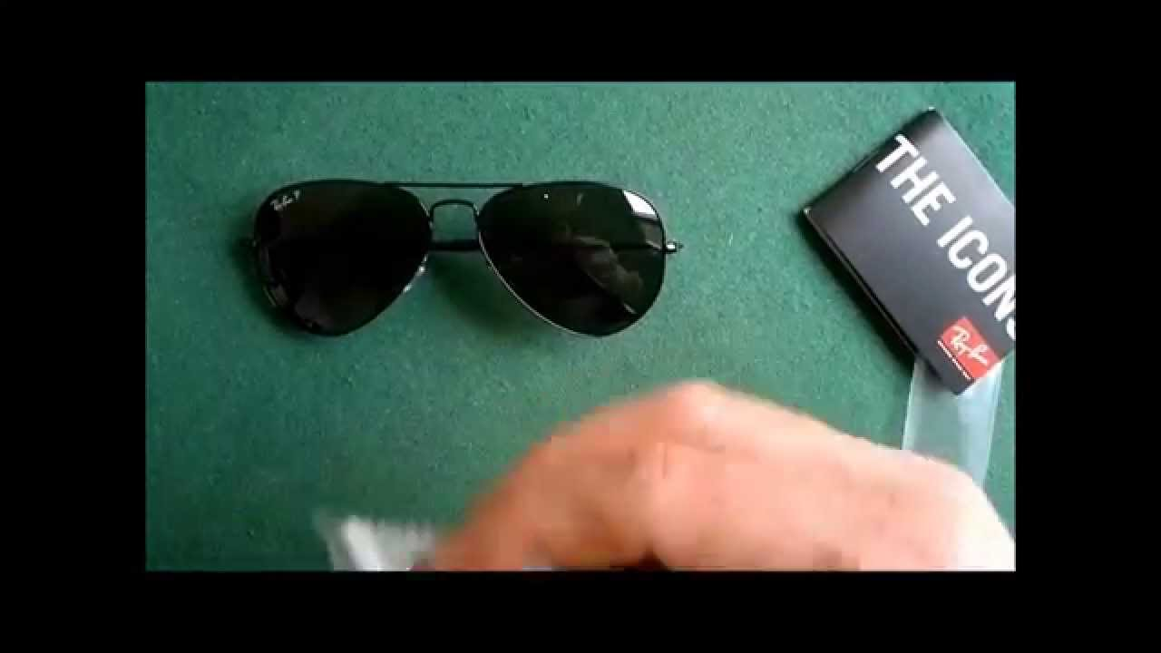 7d0b464aac Unboxing Ray Ban 3025 002 58 large metal aviator POLARIZED sunglasses -  YouTube