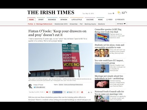 The Hatred of God in the Irish Media (Irish Marriage Referendum 2015)