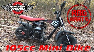Monster Moto 105cc Unboxing & Review