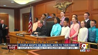 Forest Park family adopts six blood siblings who didn
