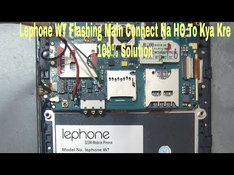 LEPHONE W7 FLASHING/ HOW TO FLASH LEPHONE W7