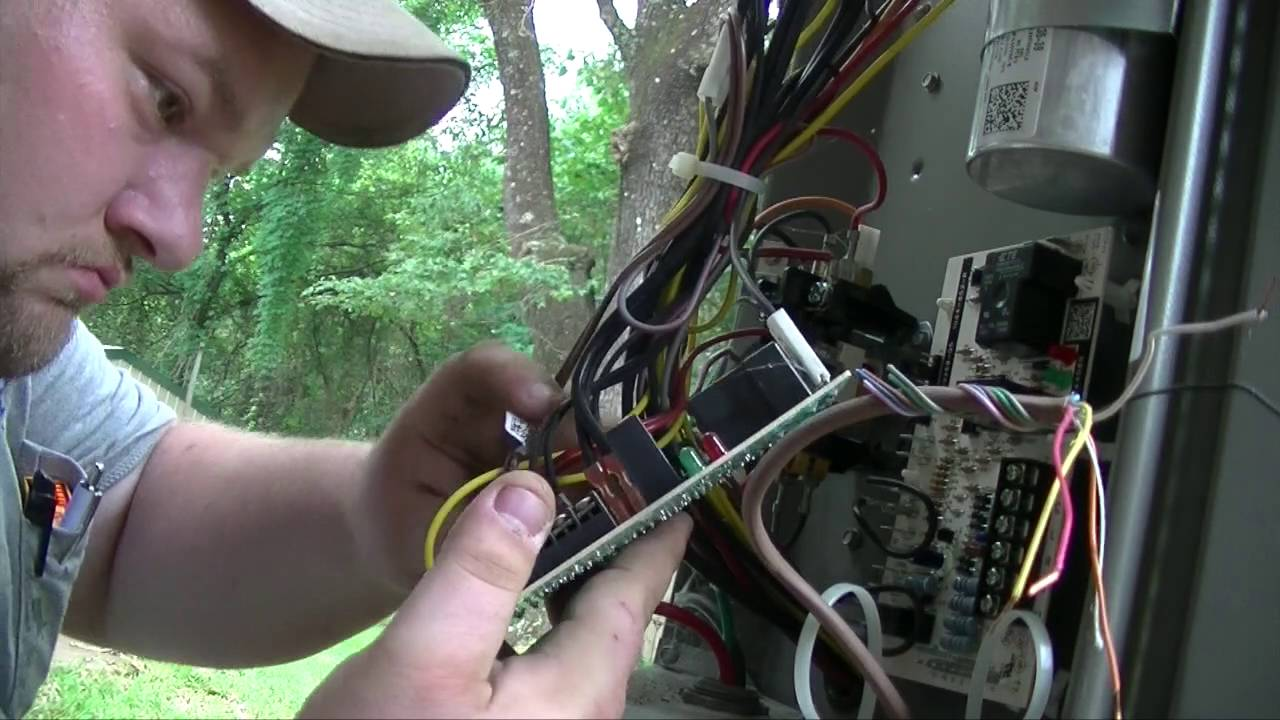 small resolution of hvac lennox blower relay defrost board replacement