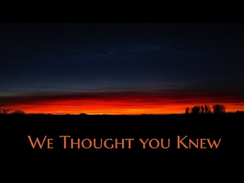 ''We Thought you Knew'' by Eddie Price | CLASSIC HAUNTED HOUSE CREEPYPASTA