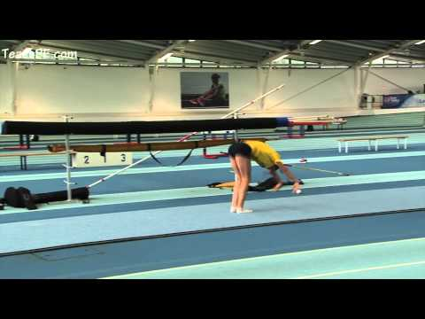 Pole Vault gymnastic exercises