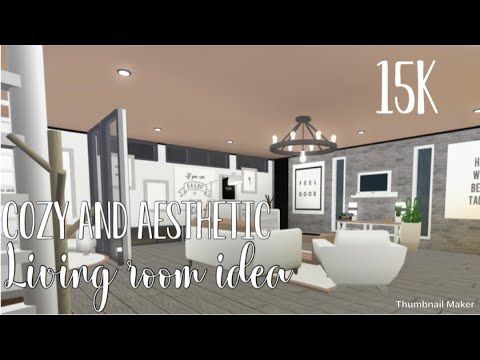 Bloxburg Cozy And Aesthetic Living Room Youtube