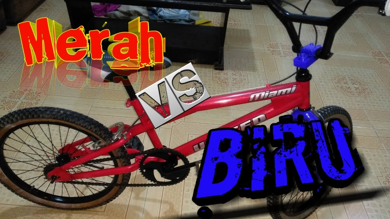 Cara Mengecat Sepeda Bmx Warna Merah Biru Youtube