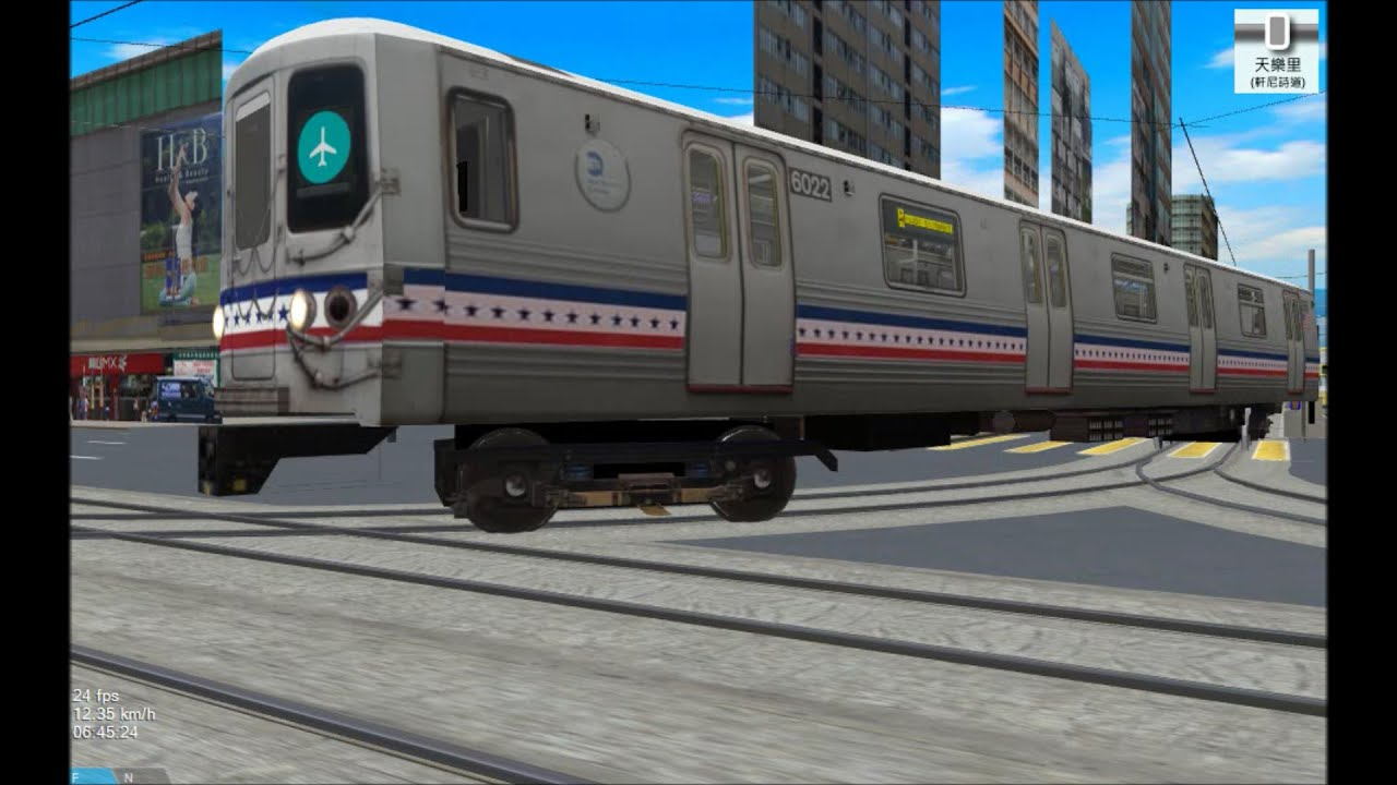 OpenBVE HD Troll: NYC Subway R46 Bicentennial Edition on Hong Kong Tram  Route