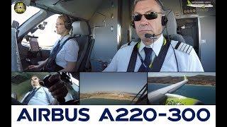 Air Baltic Bombardier CS300 Multicam Cockpit Landing, WORLD EXCLUSIVE! [AirClips]