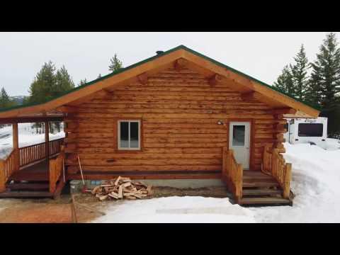 Medium Log cabin - Meadowlark Rancher