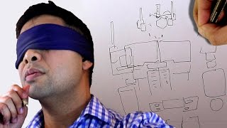 BLINDFOLD CHALLENGE DRAWING OPTIMUS PRIME!! (AND TRYING TO FIX IT AFTER!)