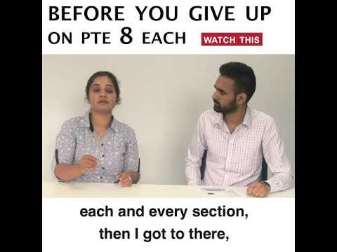 Repeat Ranjeet from India | 8 Each in PTE Academic | Language