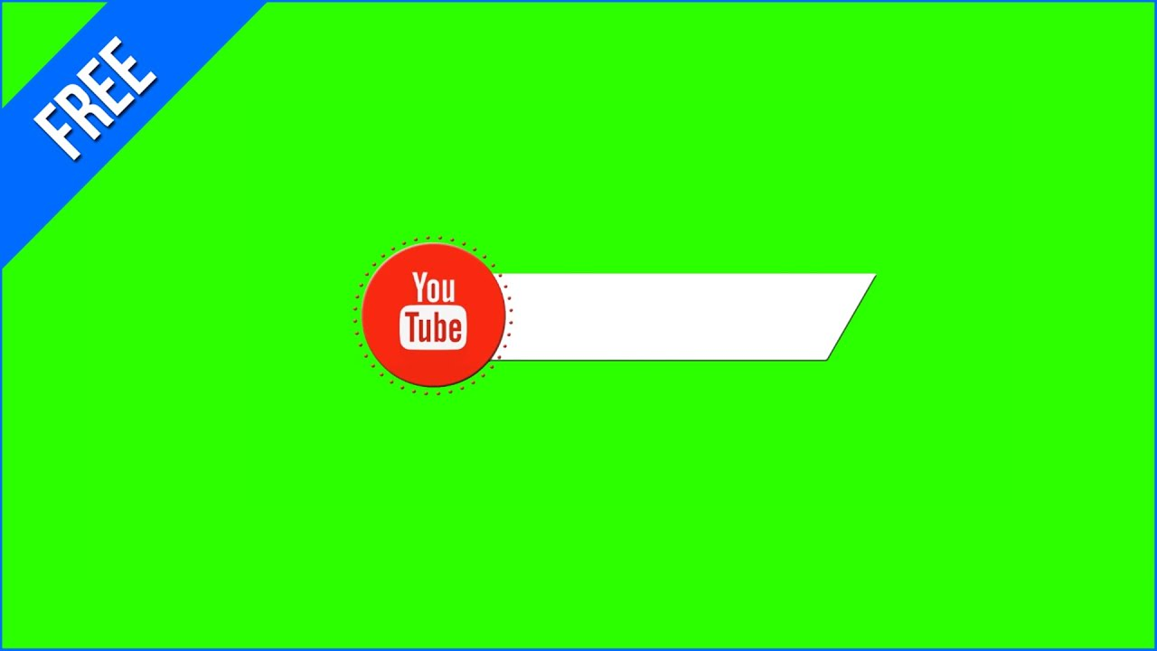 Barras Do Youtube  1 - Youtube Lower Thirds  1    Green Screen - Chroma Key