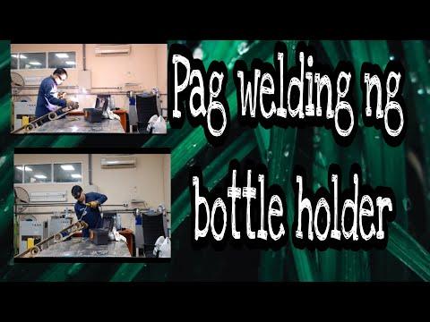Pag welding ng bottle holder (Kbarangay Chris channel)