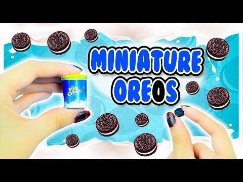 Edible Miniature Oreo Cookies ~ Dollhouse Food DIY
