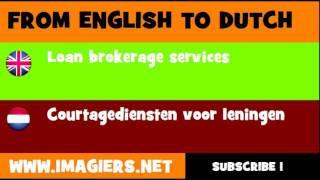 NEDERLANDS = ENGELS = Courtagediensten voor leningen