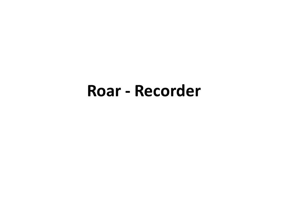 notes on recorder for roar whole song