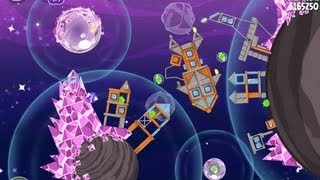 Angry Birds Space Cosmic Crystals 7-28 Walkthrough 3 Star