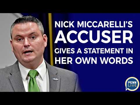 PA State Rep.'s sexual assault accuser gives her public statement : Nick Miccarelli