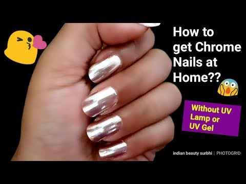 How To Get Chrome Nails At Home || No UV Lamp❌ & No UV Gel ❌|| Isadora Mirror Chrome Powder Review |
