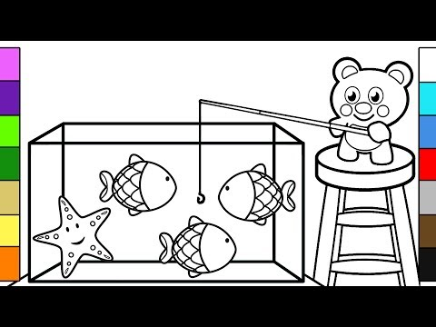Fish Aquarium Tank | Coloring Book for Babies