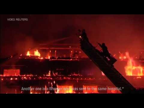 Fire decimates Rangoon's Kandawgyi Palace hotel