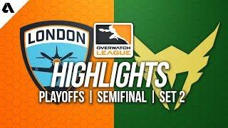 London Spitfire vs Los Angeles Valiant | Overwatch League Playoffs OWL Semifinals Highlights Match 2