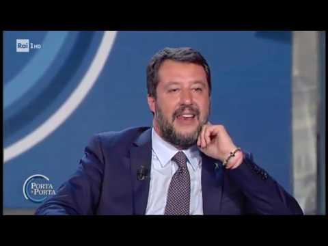 """Matteo Salvini: """"A Roma una manifestazione bella e pacifica"""" - Porta a porta 10/09/2019"""