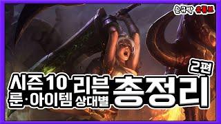 시즌10 리븐 챔프별 룬,아이템,상대법 총정리 [2탄]
