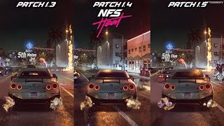 Need for Speed Heat - Night Race Start Environment Comparison - Patch 1.3 vs Patch 1.4 vs Patch 1.5