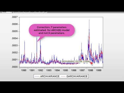 (EViews10): ARCH Vs. GARCH Models (Estimations)   #garch #arch #parsimony #volatility