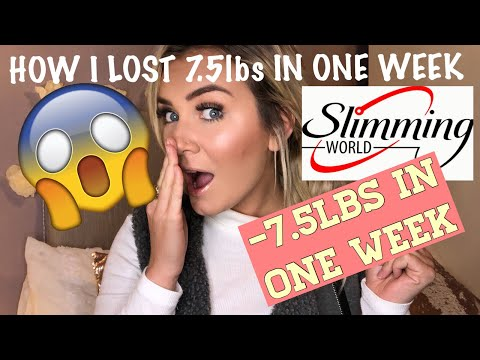 MY SLIMMING WORLD JOURNEY/ HOW I LOST 7.5lbs IN ONE WEEK!