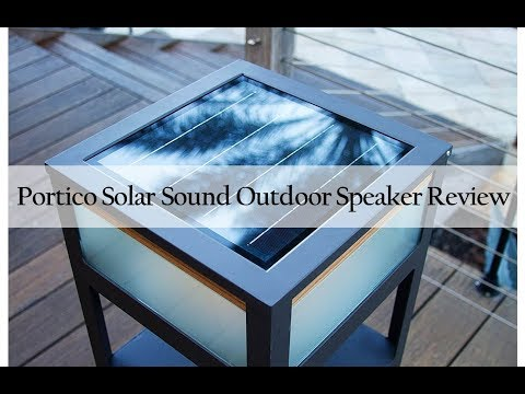 Review of Portico Solar Sound Wireless Solar-Powered Bluetooth Speaker and Light for Patio and Pool