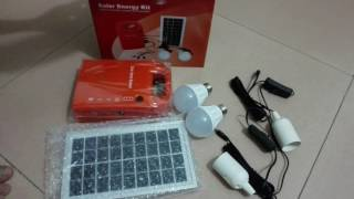 Portable Solar Power Home lighting System Energy Kit