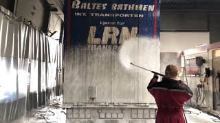 REAL Dirt: Scania R730 V8 Touchless High Quality Non Contact  Truck Wash!