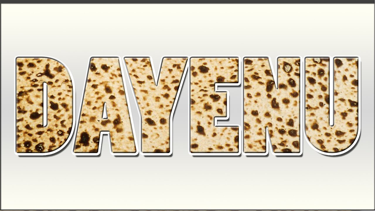 The Worlds Most Popular Passover Song Dayenu Song Lesson Youtube