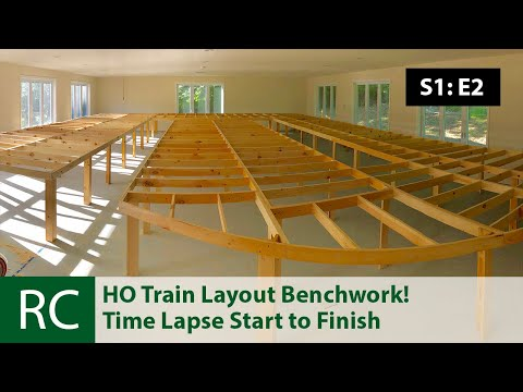 S1: E2: Giant HO Scale Train Layout Construction Begins. Benchwork!