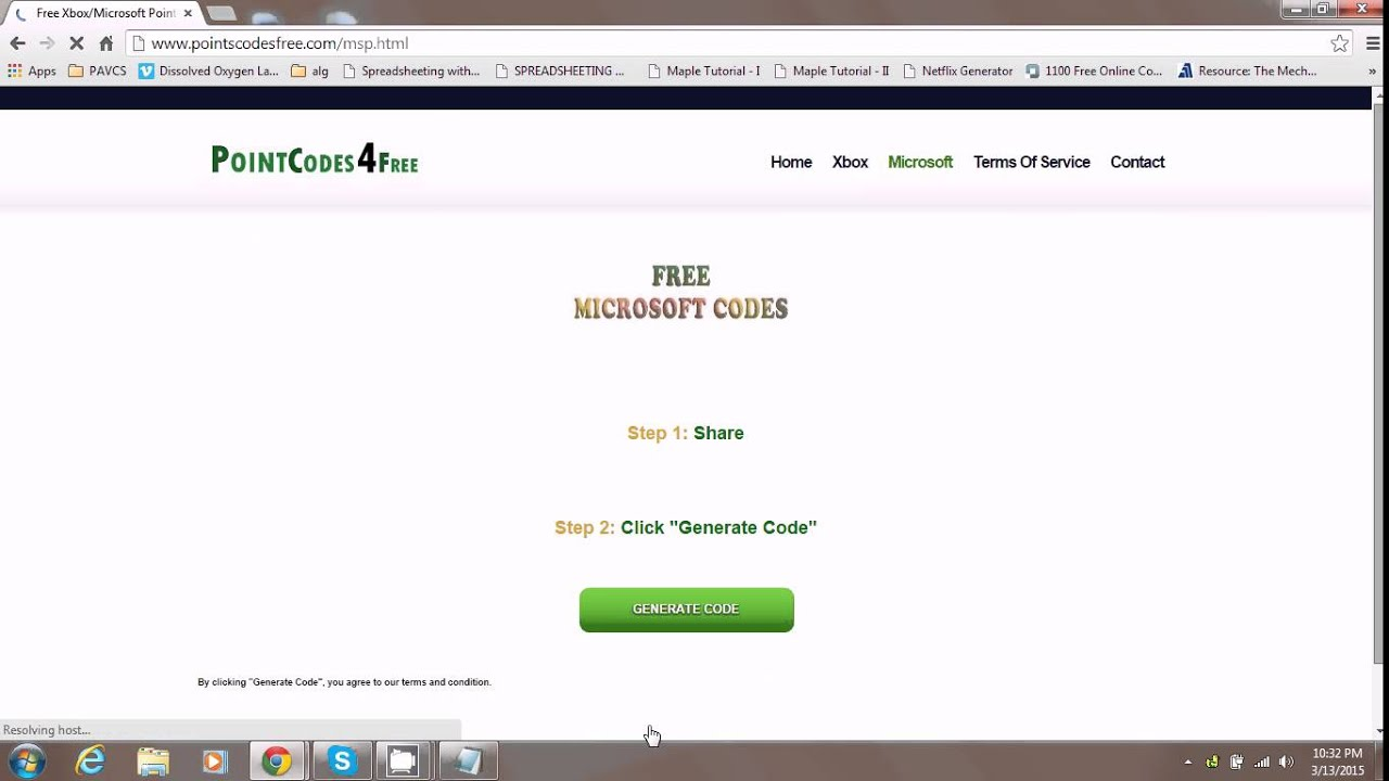 HOW TO GET FREE MICROSOFT POINT CODES 2015 *WORKING*