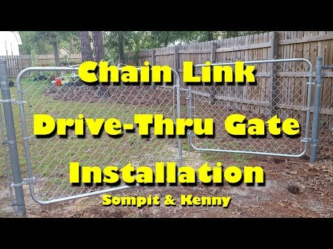 Sompit & Kenny - Installing A Chain Link Fence Gate