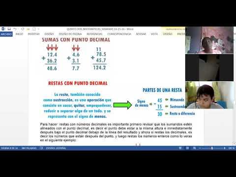 31/05/2021 QUINTO DOS matemáticas: operaciones con decimales semana 16