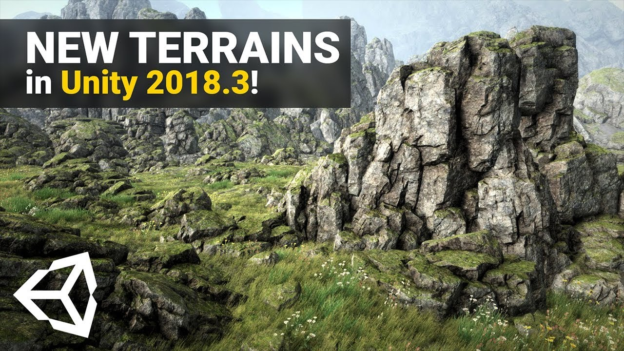 NEW TERRAIN SYSTEM in Unity 2018 3! | Overview + Tutorial