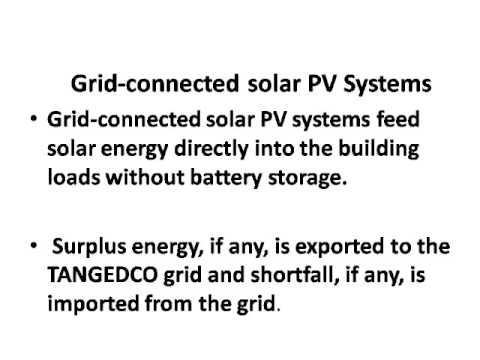 OFF GRID SOLAR POWER & ON GRID SOLAR POWER  - BASIC