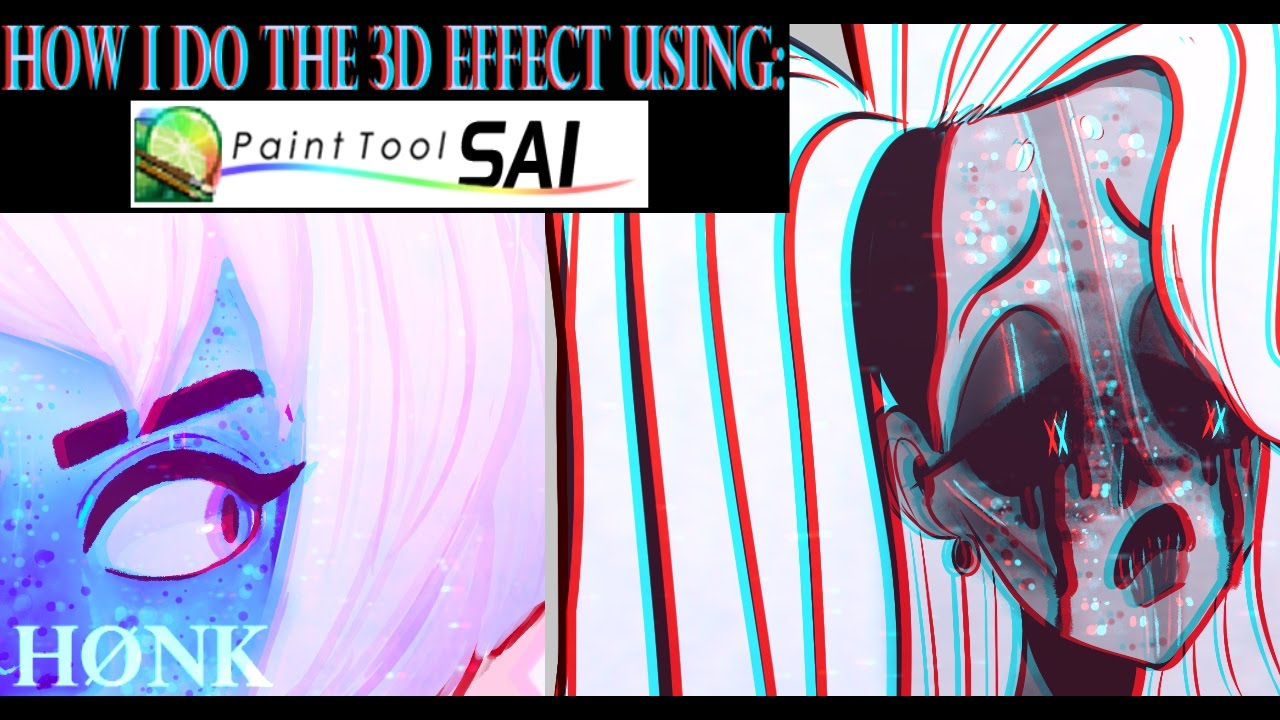 3d effect on paint tool sai tutorial youtube