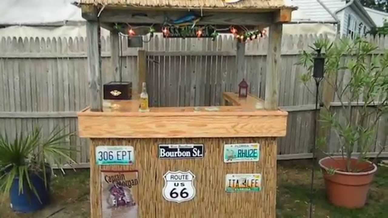 Back yard Custom Tiki Bar - YouTube