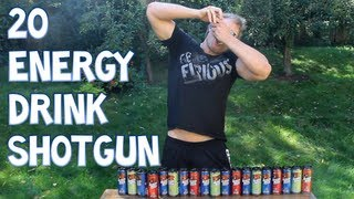 20 Energy Drink Shotgun - *Do NOT Attempt This At Home* | Furious Pete