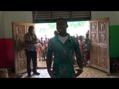 Cultural Guinea Dance at Akoma Academy - Ghana Tour May 2017