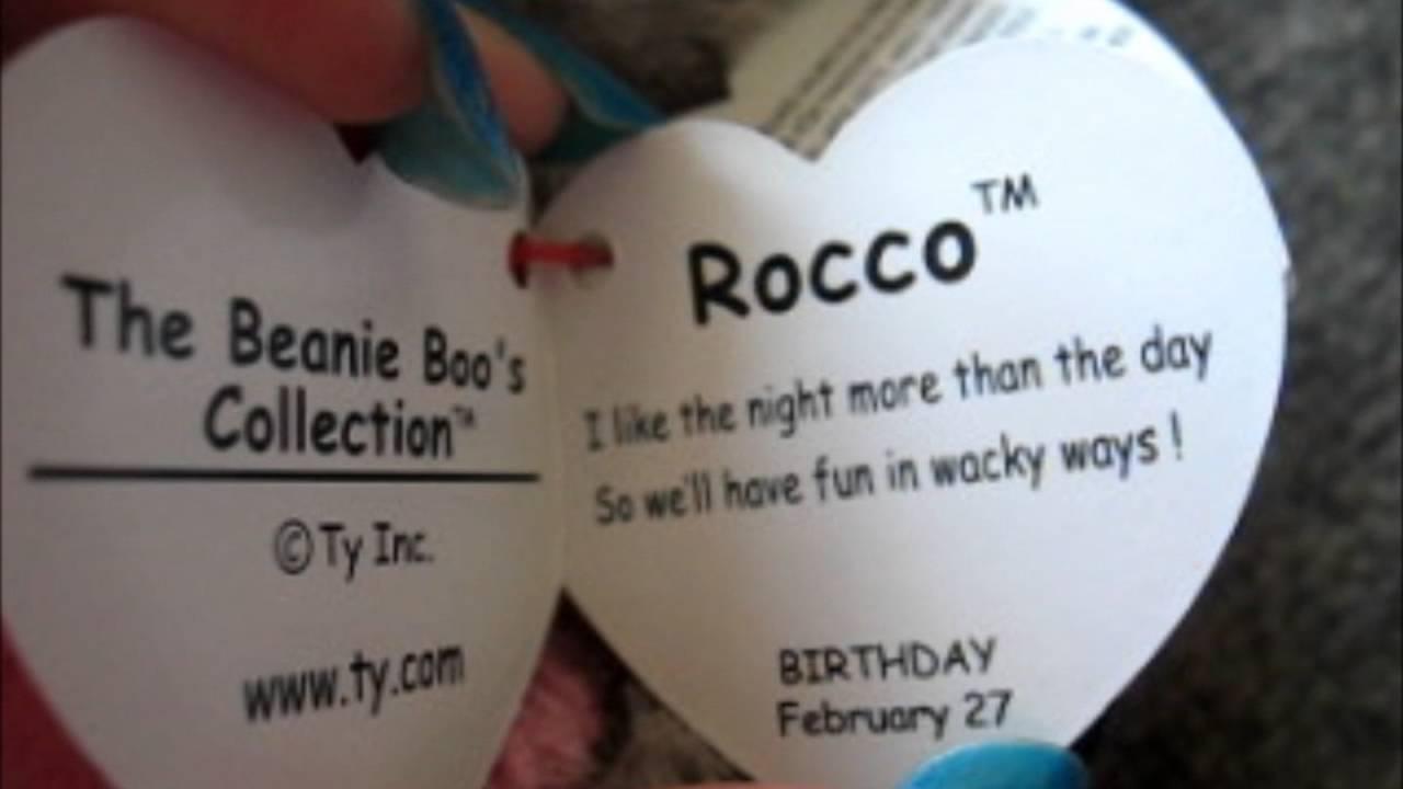 Ty Beanie boos Rocco - YouTube 984bb6a4970b