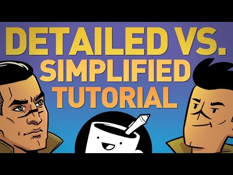 How To Draw Detailed and Simplified Characters